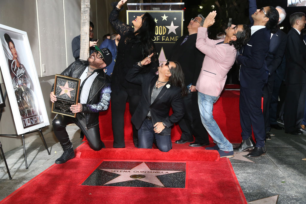 Selena Quintanilla received her Star on the Hollywood Walk of Fame, and fans dressed to impress