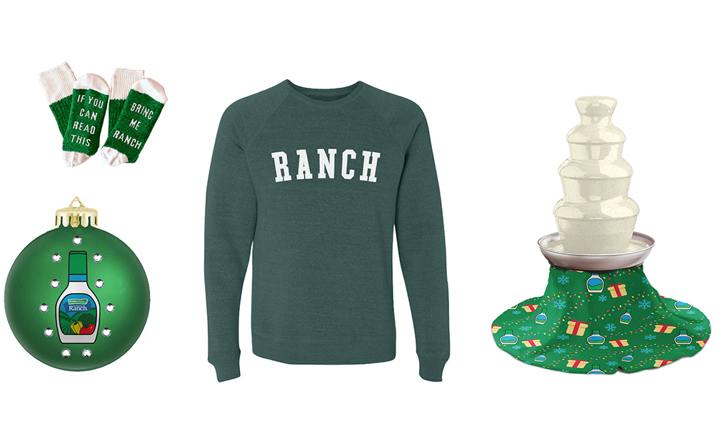 Attention, ranch dressing fans — Hidden Valley has a new clothing collection for the holidays