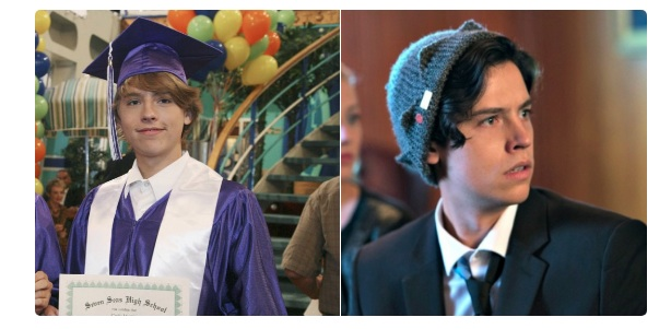 "We just discovered a disturbing connection between Cole Sprouse's characters on ""Riverdale"" and ""The Suite Life on Deck"""