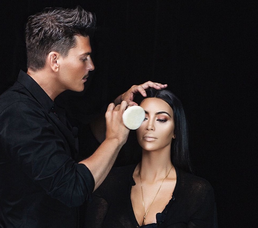 Kim Kardashian's makeup artist Mario Dedivanovic just hinted that they're collaborating
