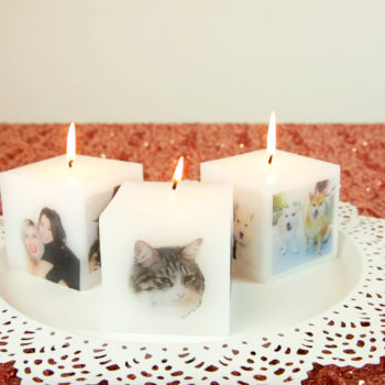 These DIY photo candles are perfect for making your holiday season lit