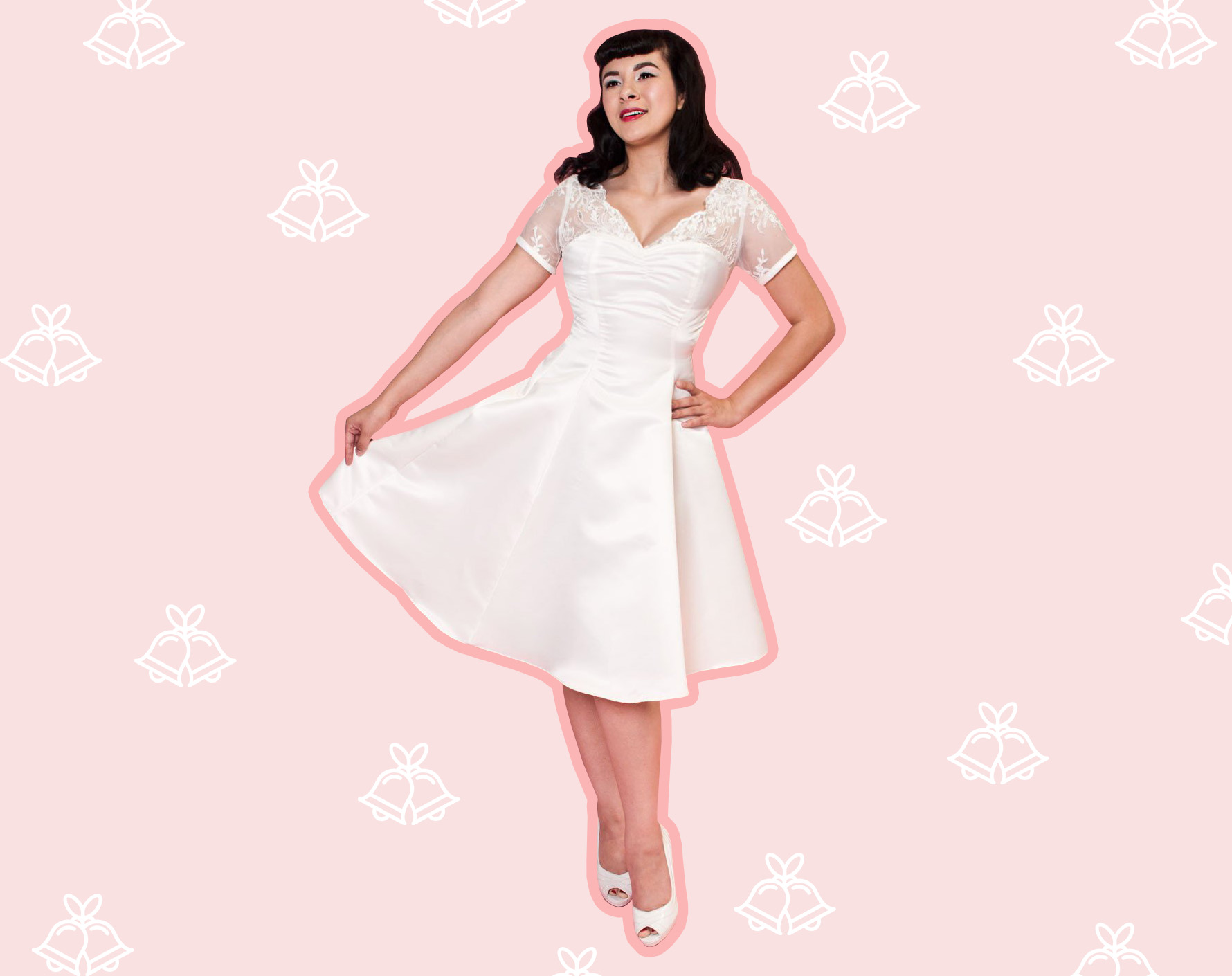 '60s-inspired wedding dresses for the bride who loves a vintage silhouette