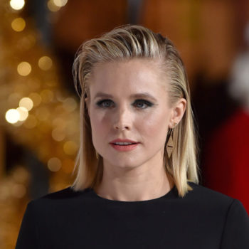 Kristen Bell's middle-part bob is the perfect November haircut