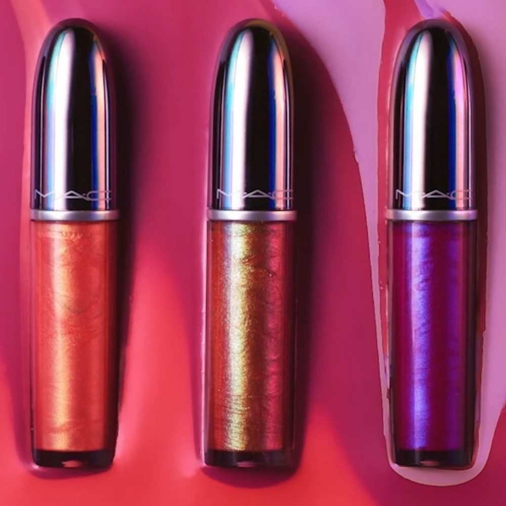 "MAC's otherworldly lip gloss collection is giving us ""Zenon: Girl of the 21st Century"" vibes"