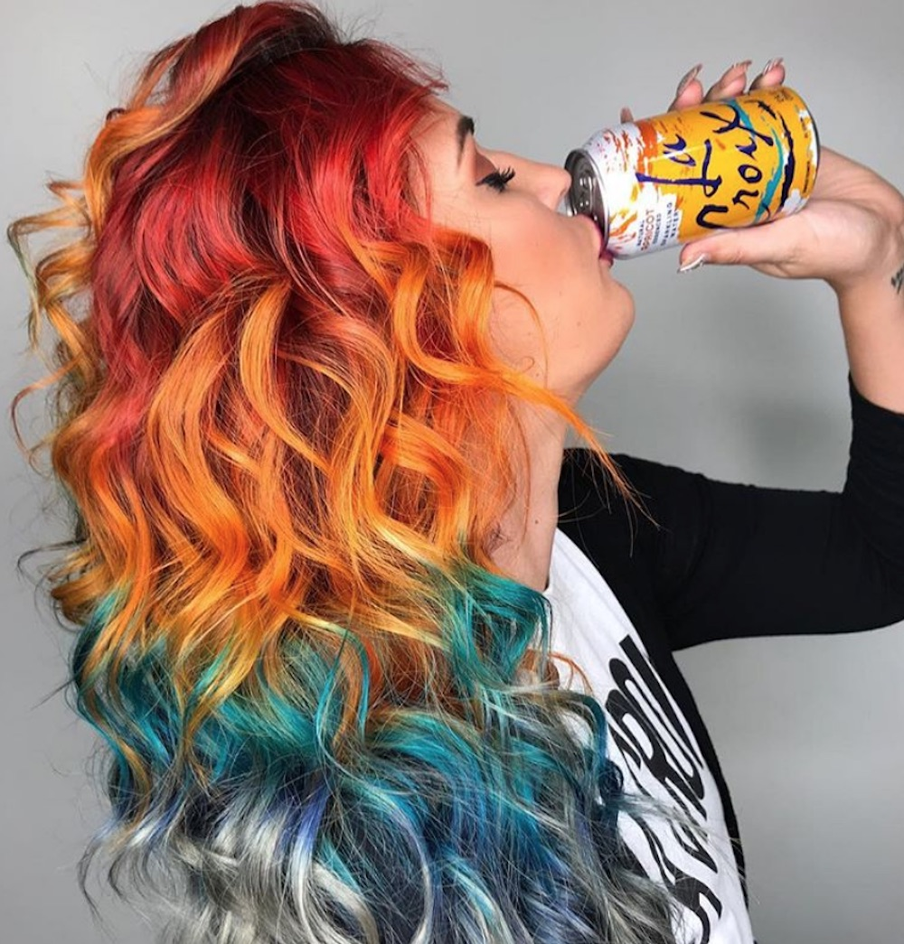 LaCroix hair is now a thing, because our obsession with sparkling water knows no bounds