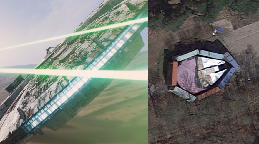 Disney is doing a really bad job hiding the Millennium Falcon from Google Maps