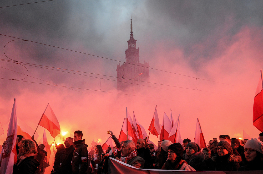 "A Polish Independence Day march may have taken a turn for the nationalist with signs that say ""Europe will be white"""