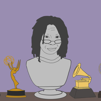 A bust in honor of babe Whoopi Goldberg's 62nd birthday
