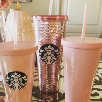 PSA: Starbucks now has a *rose gold* collection of tumblers and cups
