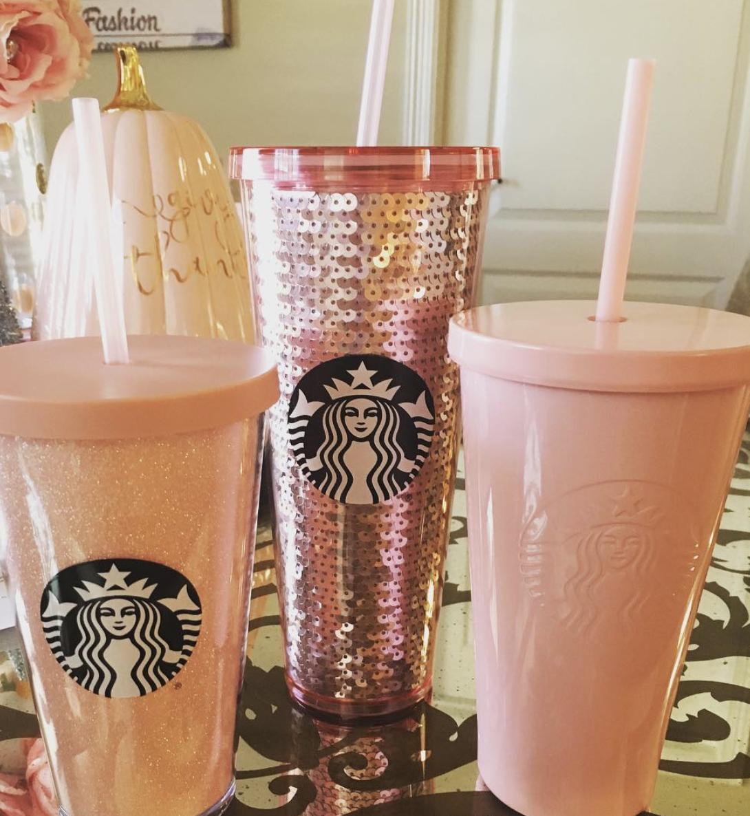 PSA Starbucks Now Has A Rose Gold Collection Of Tumblers