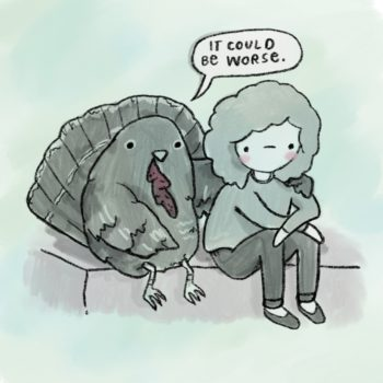 This turkey is keepin' it real to kick off the holidays