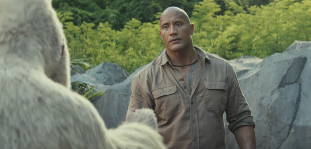 "Watch The Rock fight to save his gorilla friend in the bananas ""Rampage"" trailer"