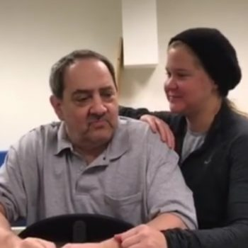 Amy Schumer's father stood for the first time in years