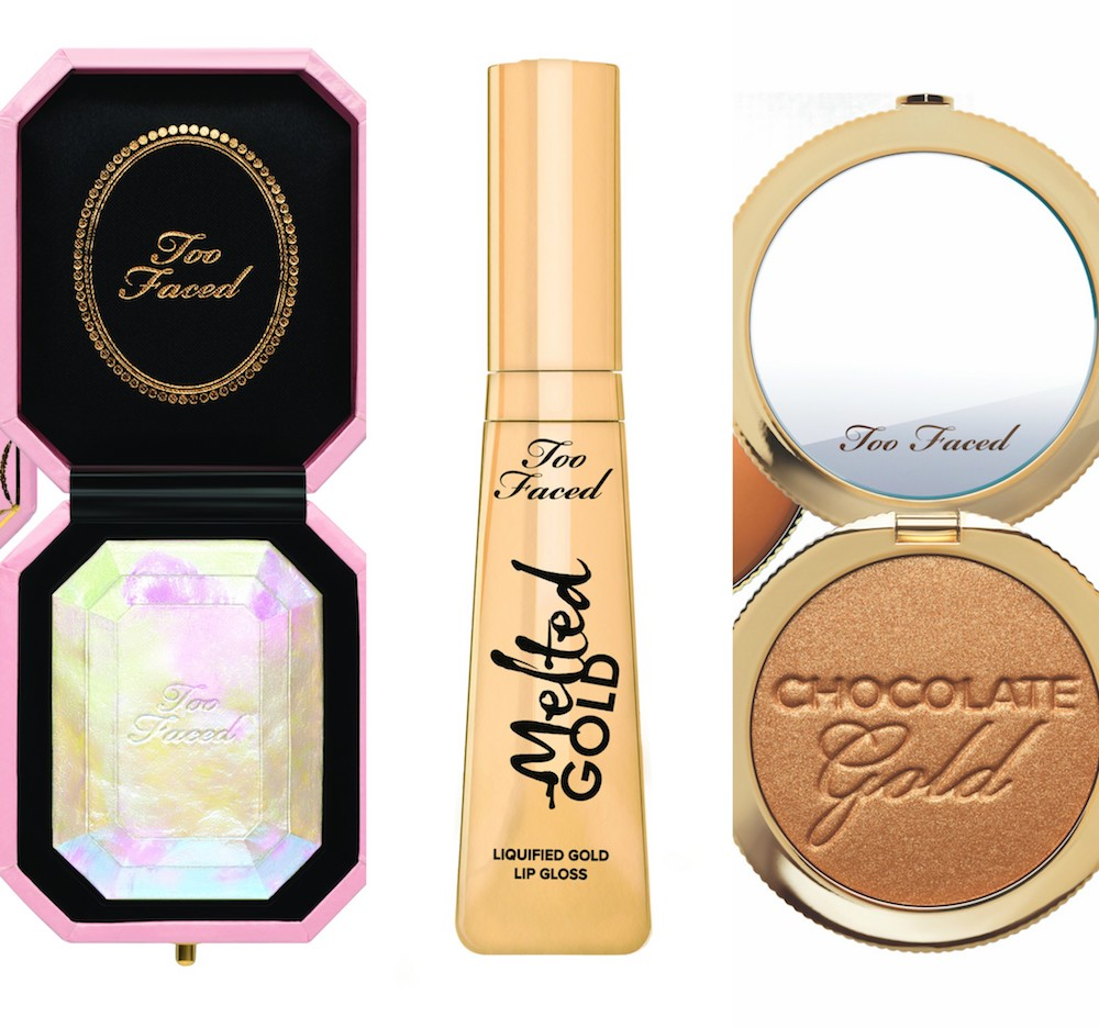 This is everything from Too Faced's Chocolate Gold collection, and it's oh-so-sweet