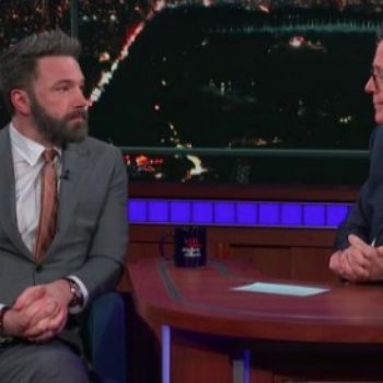 Stephen Colbert grilled Ben Affleck about his history of sexual harassment