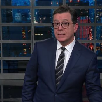 Stephen Colbert isn't here for Al Franken's sexual misconduct apology