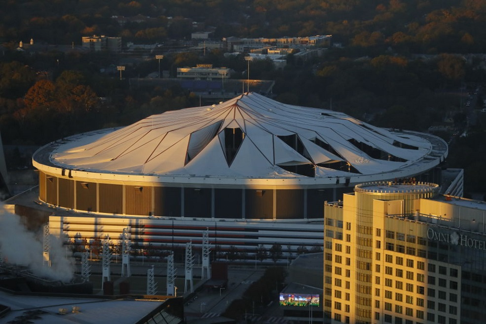 We can't stop watching this footage of the Georgia Dome imploding