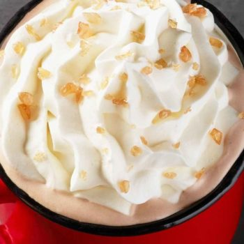 This is exactly what's in Starbucks' new Toffee Almondmilk Hot Chocolate