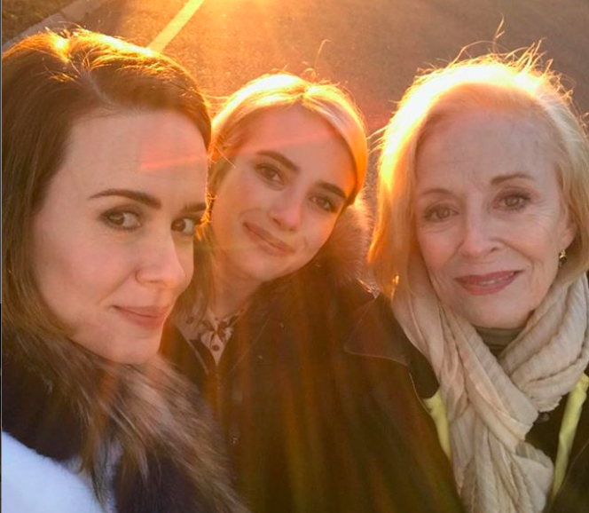 "The ""American Horror Story"" cast spent Thanksgiving together, and what if that was just Season 8?"