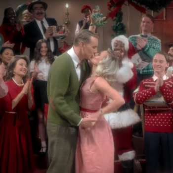"Kristen Bell and Dax Shepard celebrate the holidays in Sia's retro ""Santa's Coming For Us"" video"