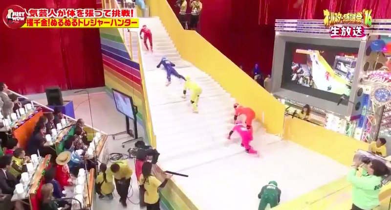 slippery stairs is the japanese game show everyone s obsessed with