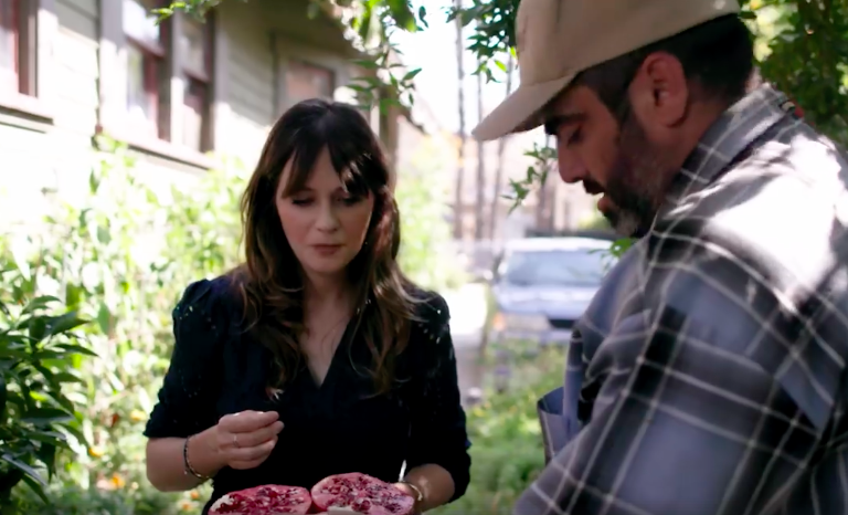 "Zooey Deschanel's Facebook series ""Your Food's Roots"" will lettuce learn more about food sustainability"