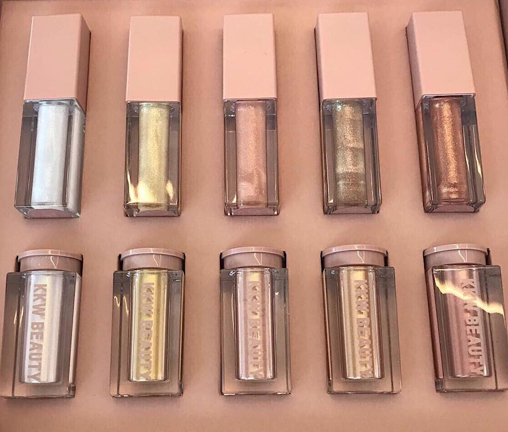 KKW Beauty's next makeup launch will make you shimmer like Christmas wrapping paper