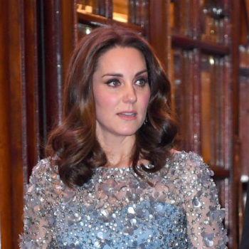 "Kate Middleton looks like Elsa from ""Frozen"" in this wintery blue gown"