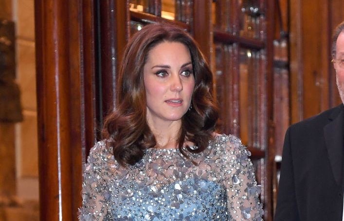 """Kate Middleton looks like Elsa from """"Frozen"""" in this wintery blue gown"""