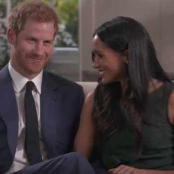 Prince Harry and Meghan Markle were caught goofing off behind-the-scenes of their recent interview, and it's adorable AF