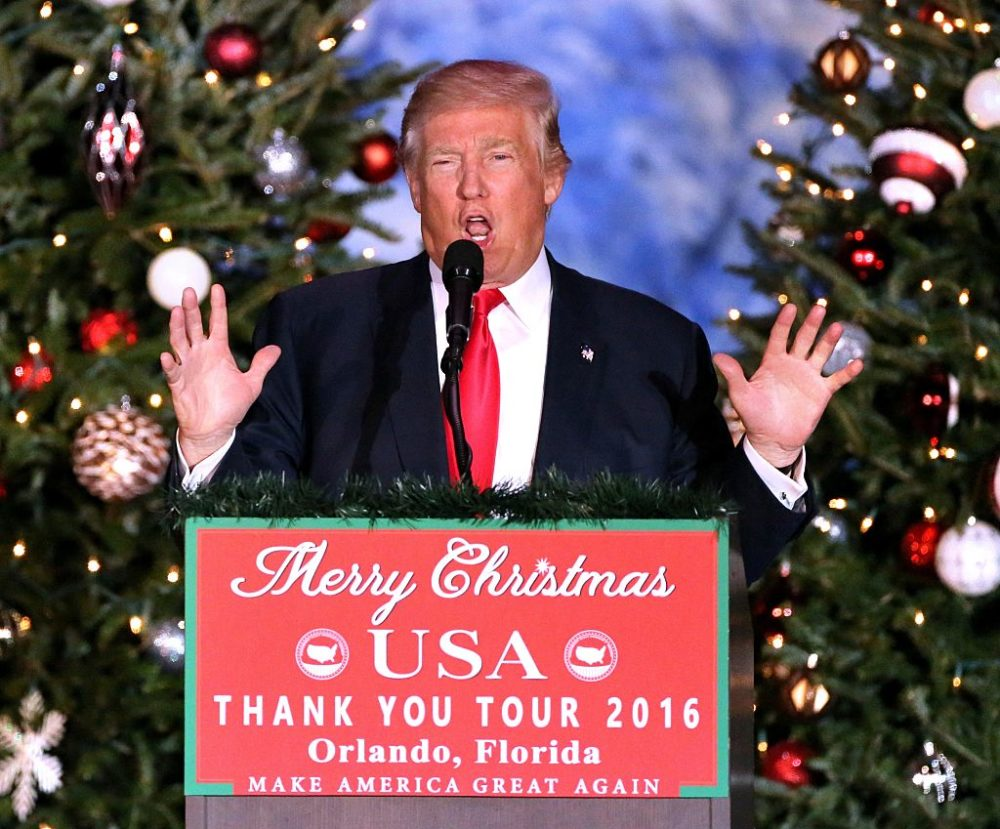 Donald Trump made sure the White House's holiday card was not politically correct this year