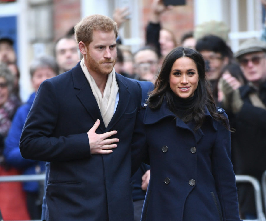 Meghan Markle joined Prince Harry for their first official royal outing together