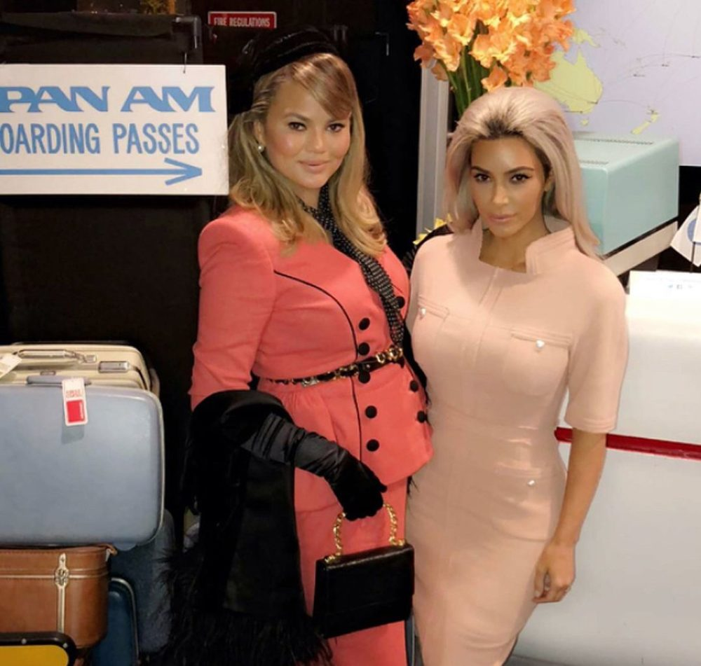 Chrissy Teigen's exclusive '60s-themed birthday bash featured an entire faux airplane