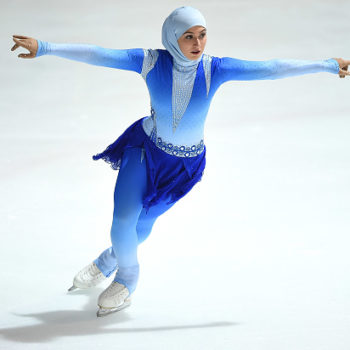 Meet Zahra Lari, the first professional figure skater to compete internationally wearing a headscarf