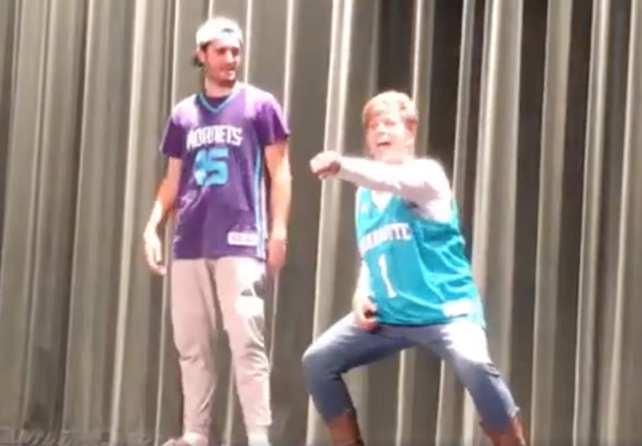 """This mother-son """"History of Dance"""" routine won over the school talent show AND the internet"""