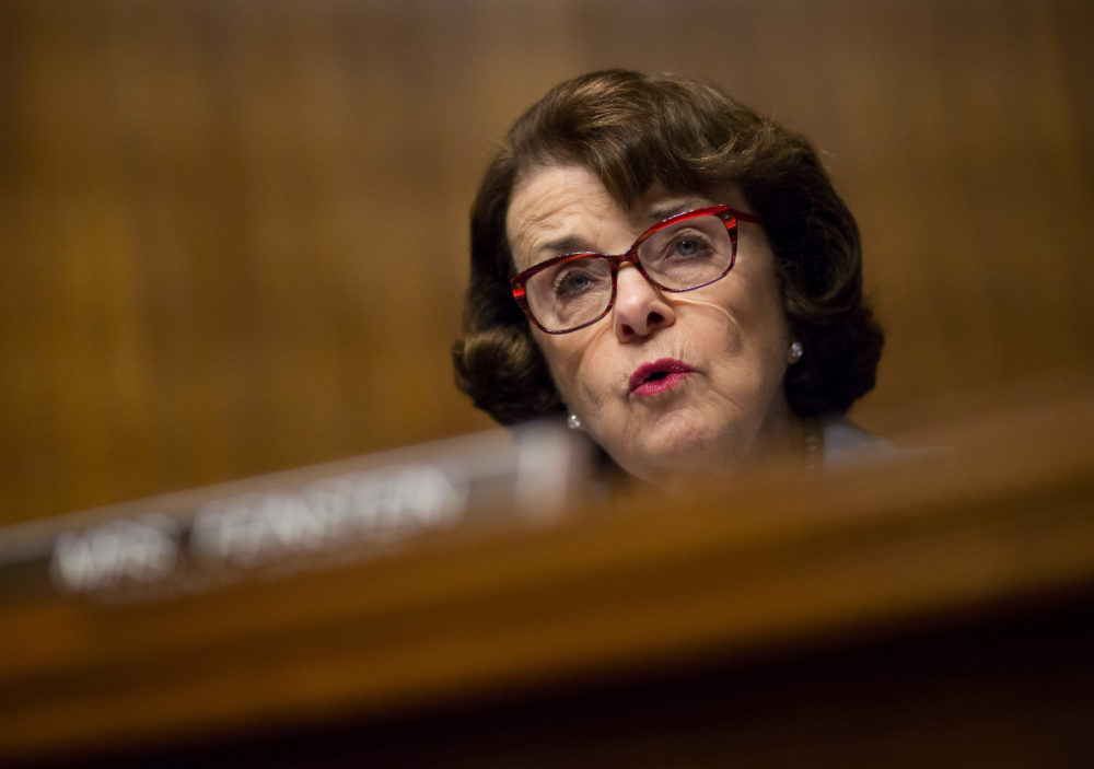 "Dianne Feinstein says the Senate's working on an ""Obstruction of Justice"" case against the president"