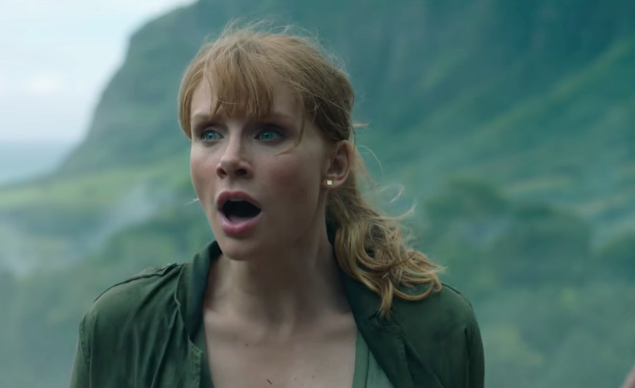 """Good news — Claire is wearing acceptable footwear in the first trailer for """"Jurassic World: Fallen Kingdom"""""""