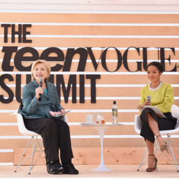"""Hillary Clinton opened up about the most uncomfortable moment of the 2016 presidential election at the """"Teen Vogue"""" Summit"""
