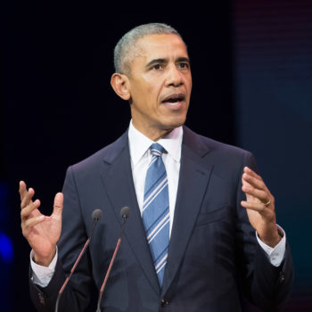 """Obama says more women should be in power because men seem to be """"having some problems"""""""