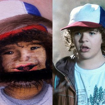 This Dustin-inspired eyeshadow art is the *strangest thing* you'll see all day