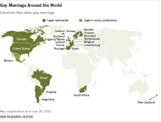 Same-sex marriage by country: All the places where gay marriage is now legal