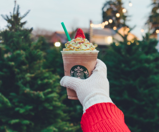 Starbucks's Christmas Tree Frappuccino has more calories than you might think