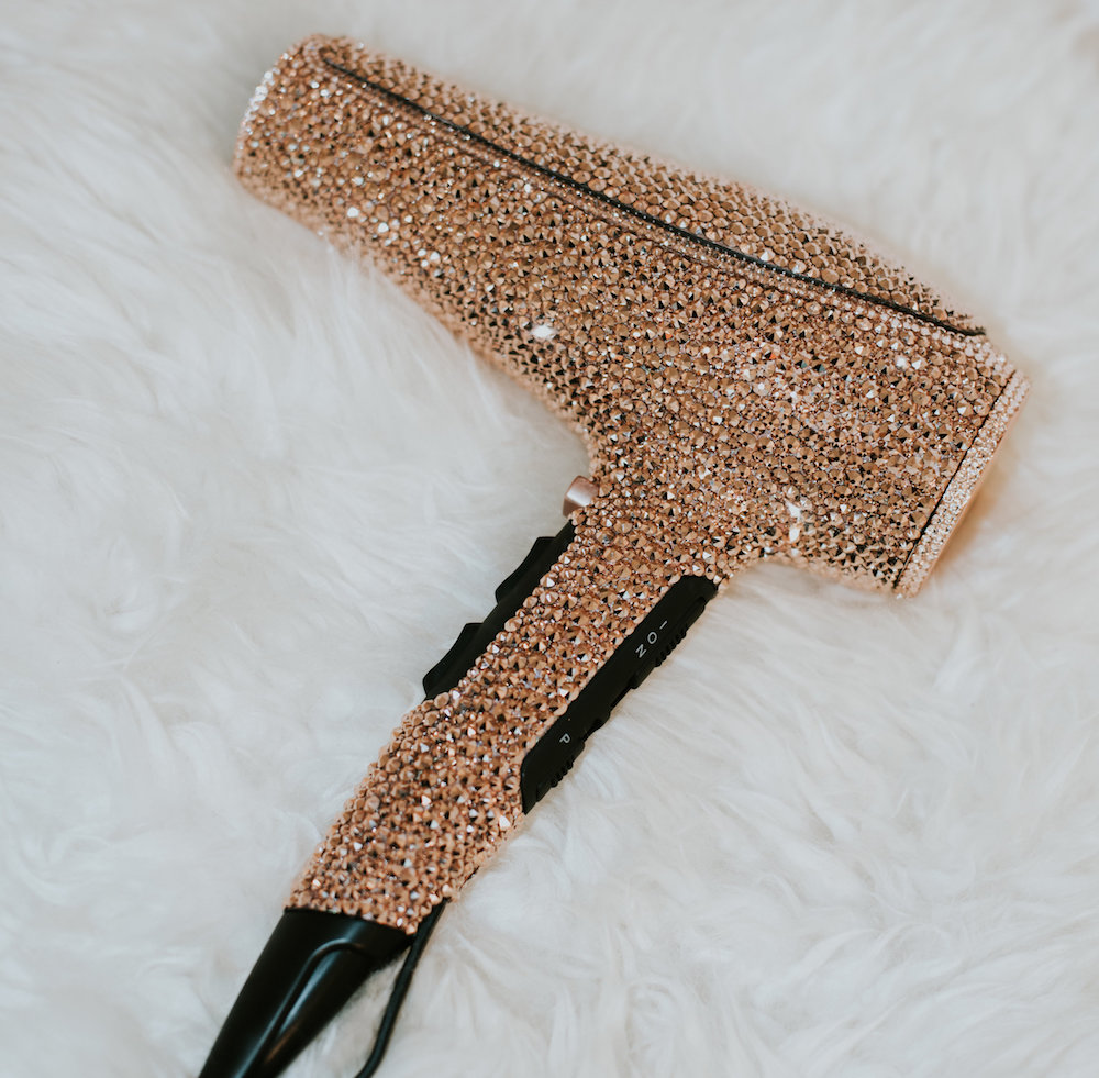 PRÊTE's new blow dryer is covered in rose gold Swarovski