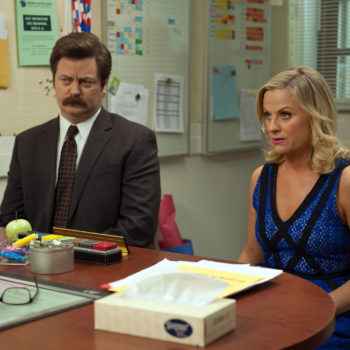 These pictures from Amy Poehler and Nick Offerman's show make us wish we were back in Pawnee