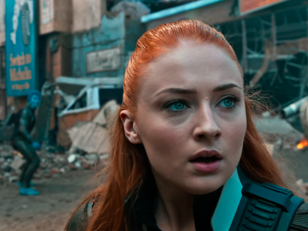 "Sophie Turner is on fire — literally — in this first look at her new ""X-Men"" movie"