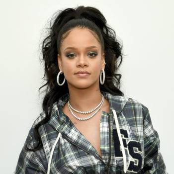Rihanna wore a diamond ring on her engagement finger, and people have questions