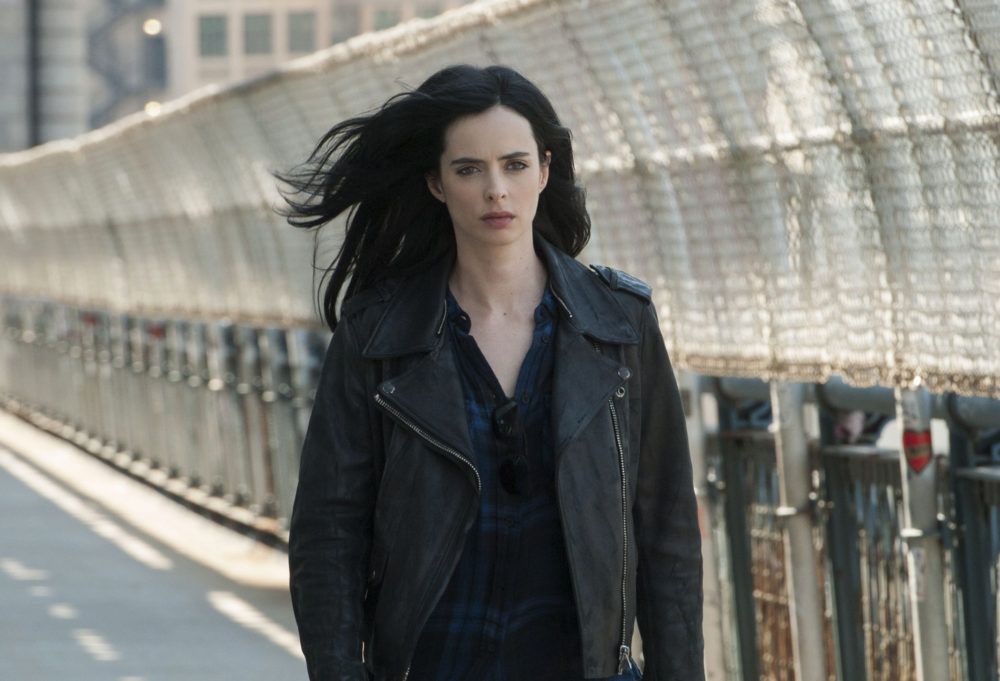 Jessica Jones is NOT happy to have Kilgrave's ghost following her around in this new Season 2 photo