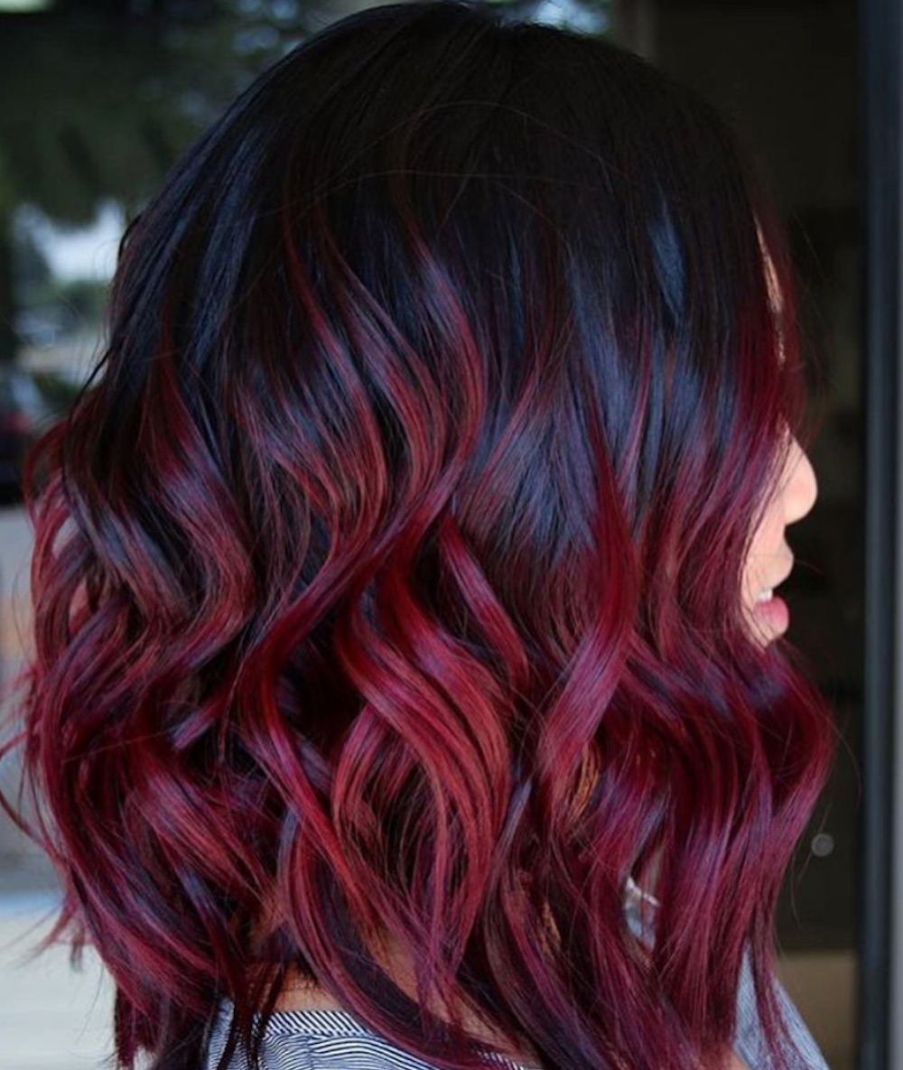 Mulled Wine hair color is making a comeback, and we want ...