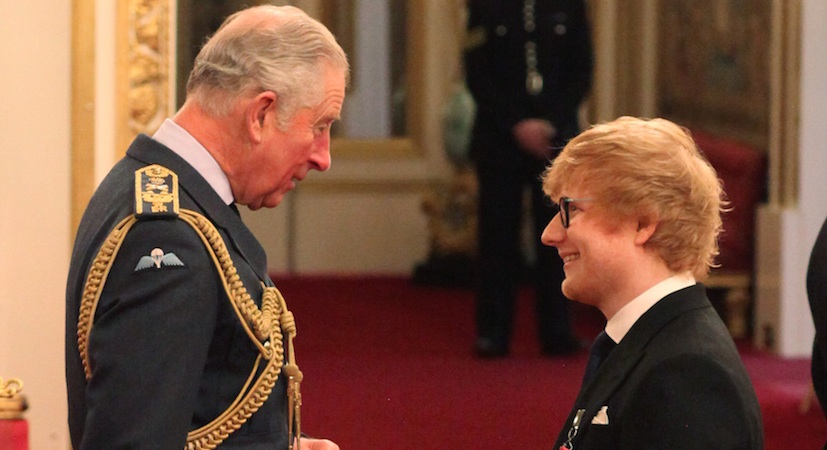 Ed Sheeran apparently breached royal protocol while meeting Prince Charles