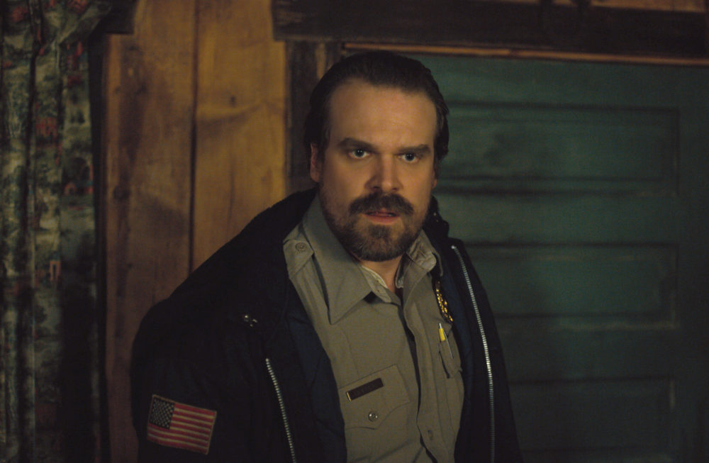 David Harbour was nominated for Best Supporting Actor at the Golden Globes, but he's the leading actor in our hearts